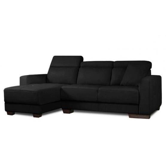 Canap d 39 angle t ti res kira blanc gauche achat vente canap sofa - Canape d angle california ...