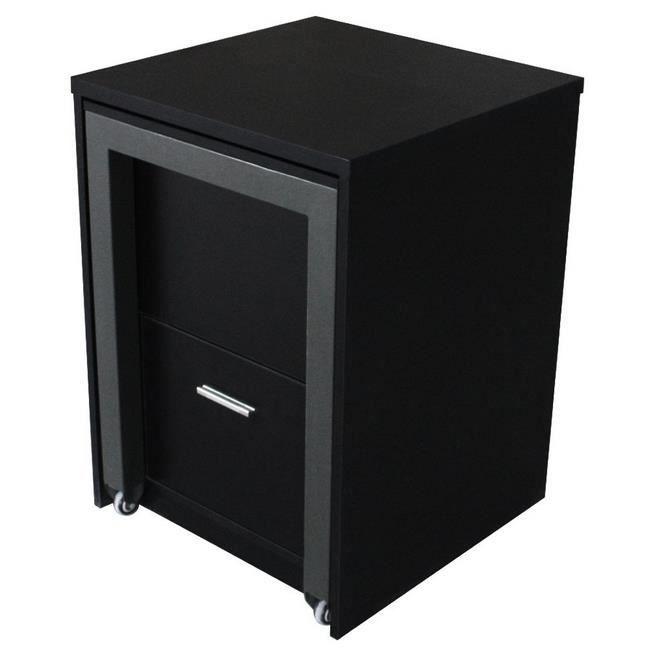 commode bureau leone noir achat vente commode de chambre commode bureau leone noir les. Black Bedroom Furniture Sets. Home Design Ideas