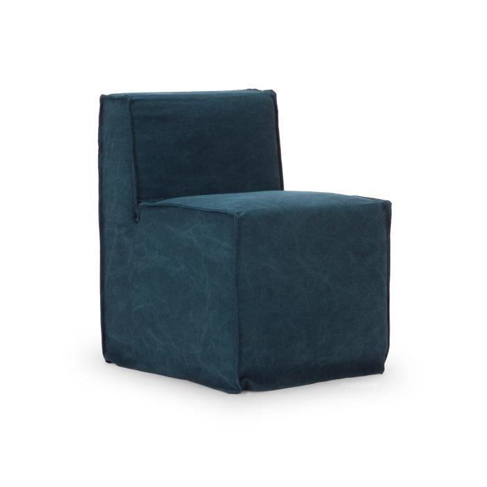 Chaise avec housse merlon en tissu bleu achat vente - Penderie avec housse en tissu ...