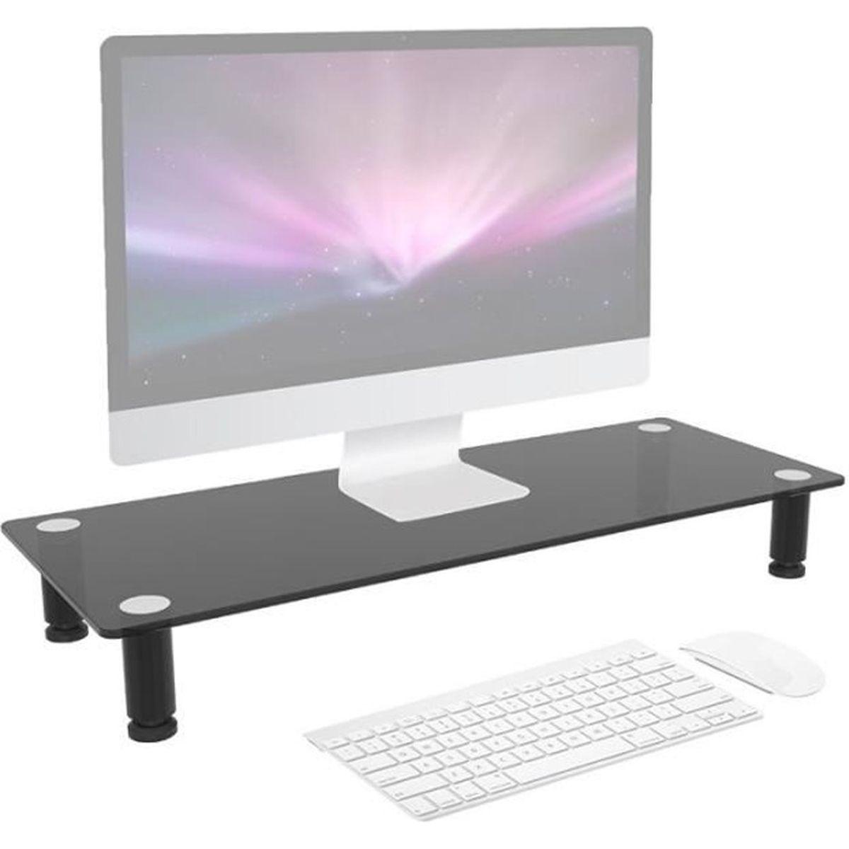 duronic dm052 2 r hausseur d 39 cran support en verre pour cran d 39 ordinateur ou ordinateur. Black Bedroom Furniture Sets. Home Design Ideas