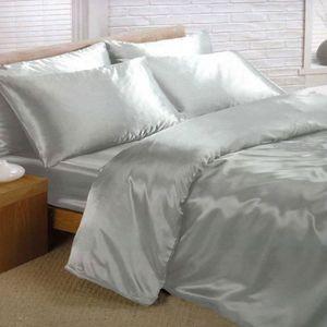 parure drap satin achat vente parure drap satin pas. Black Bedroom Furniture Sets. Home Design Ideas