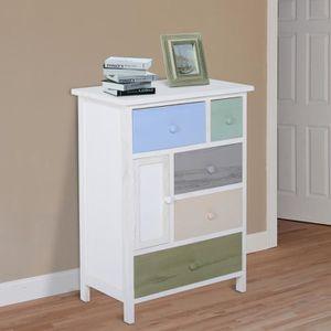 COMMODE DE CHAMBRE Commode armoire/meuble basse de rangement 5 tiroir