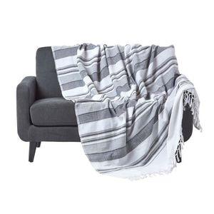 jete de canape gris achat vente jete de canape gris pas cher les soldes sur cdiscount. Black Bedroom Furniture Sets. Home Design Ideas