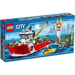ASSEMBLAGE CONSTRUCTION LEGO® City 60109 Le Bateau des Pompiers