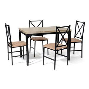 Ensemble table a manger chaises achat vente ensemble for Table chaise noir