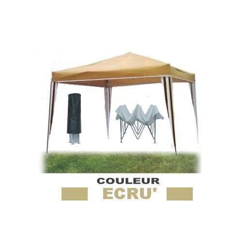 tonnelle tente de jardin pliante gazebo imperm able en m tal 3mx3m ecr mod ignis achat. Black Bedroom Furniture Sets. Home Design Ideas