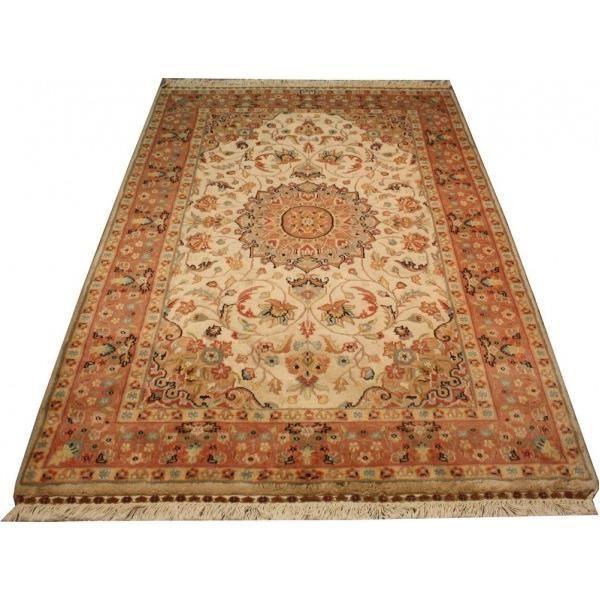 tapis pakistan et soie medaillons et floral designe achat vente tapis cdiscount