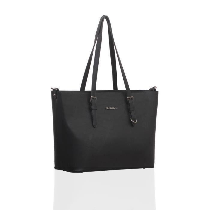 sac cabas noir chic femme pas cher achat vente sac cabas noir chic femme p soldes d t. Black Bedroom Furniture Sets. Home Design Ideas