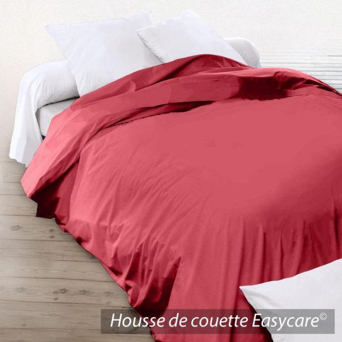 housse d 39 dredon 140x150 coton uni garance achat vente housse de couette cdiscount. Black Bedroom Furniture Sets. Home Design Ideas