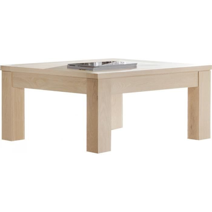 Table basse carr e ch ne massif naturel achat vente table basse table bas - Table basse carree chene massif ...