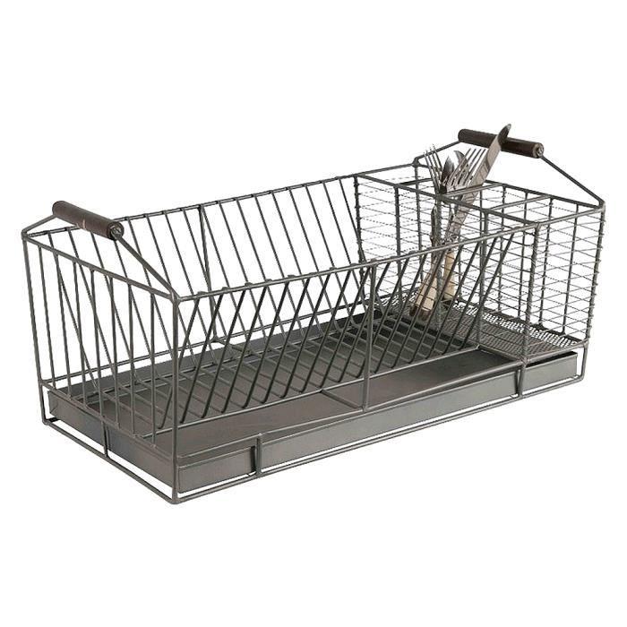 egouttoir vaisselle fer forge gris sur plateau achat vente egouttoir couverts egouttoir. Black Bedroom Furniture Sets. Home Design Ideas