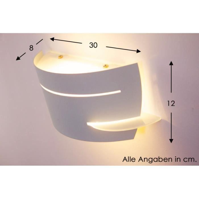 Applique lampe de corridor spot blanc lampe murale achat for Applique murale 2 spots