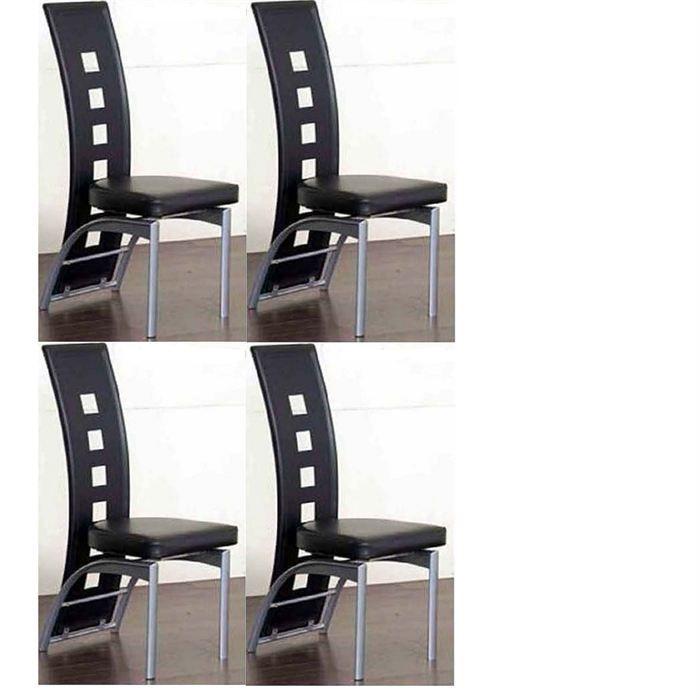 Lot de 4 chaises design etira pu chocolat achat vente - Lot de 6 chaises design ...