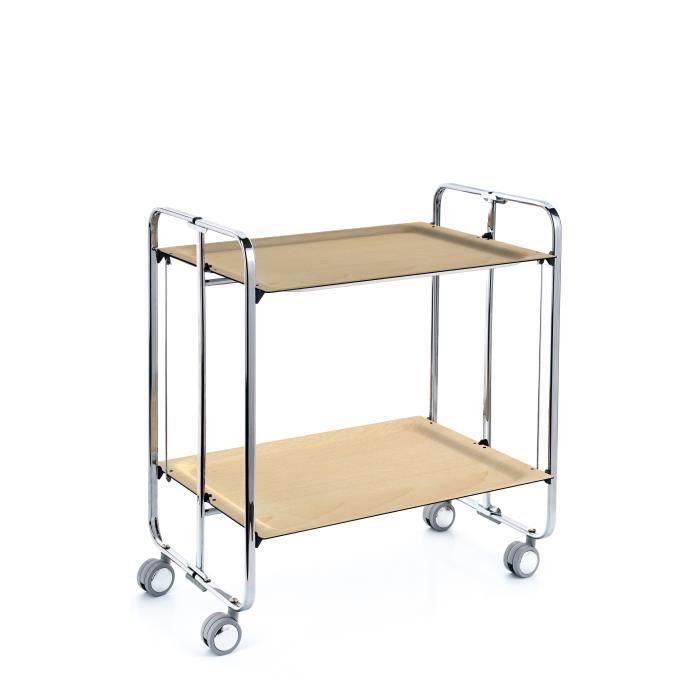 Table roulante pliante ch ssis chrom plateaux couleur - Table pliante roulante ...