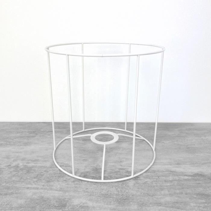 armature ronde blanche pour abat jour hauteur achat vente armature ronde blanche pour. Black Bedroom Furniture Sets. Home Design Ideas