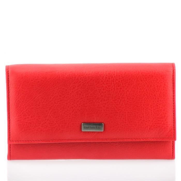 portefeuille femme cuir rouge n1291 compagnon rouge. Black Bedroom Furniture Sets. Home Design Ideas