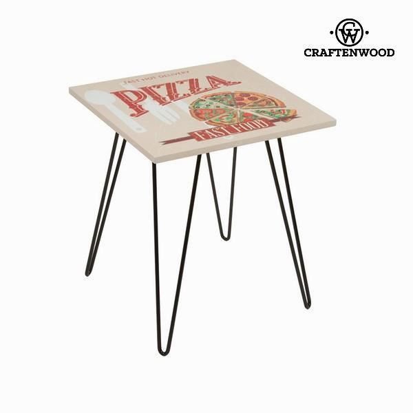 Table carr e pizza beige by craften wood achat vente table de cuisine tab - Table de cuisine carree 8 places ...