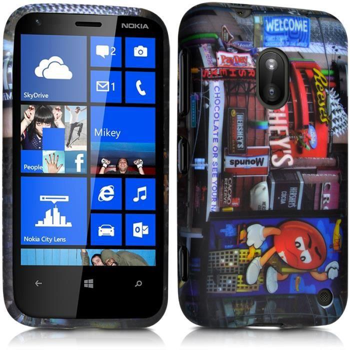 Etui Coque Semi Rigide avec Motif KJ26 pour Nokia Lumia 620 Film