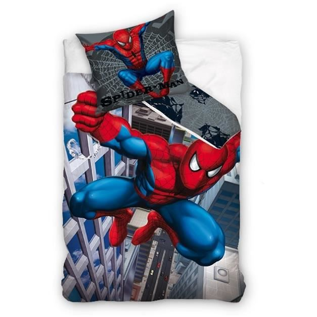 couette spiderman. Black Bedroom Furniture Sets. Home Design Ideas