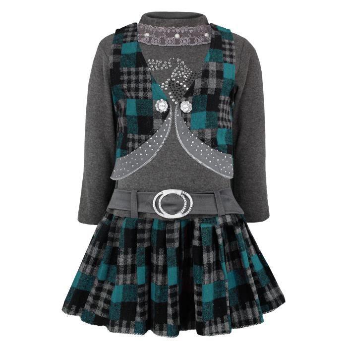 Ensemble fille ceinturee jupe et haut et gilet achat vente ensemble de v tements cdiscount - Ensemble jupe et haut habille ...