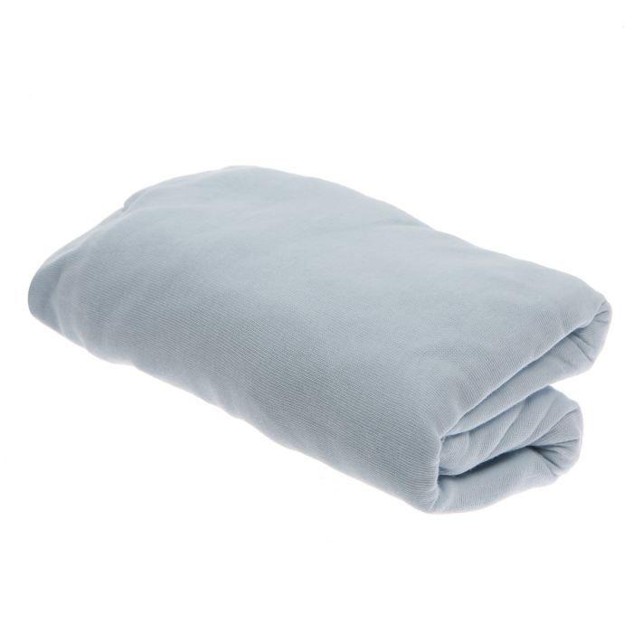 babycalin drap housse bleu ciel 60x120cm bleu ciel achat vente drap housse matelas. Black Bedroom Furniture Sets. Home Design Ideas