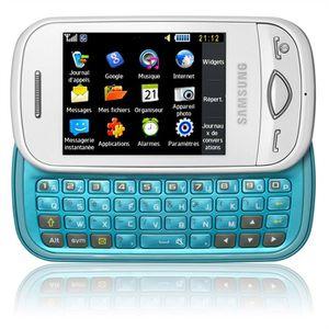 samsung b3410 blanc bleu azerty t l phone portabl achat t l phone portable pas cher avis et. Black Bedroom Furniture Sets. Home Design Ideas