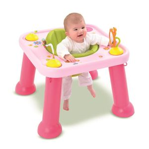 Cotoons si ge d 39 activit s youpi baby rose rose achat for Table d activite bebe avec siege