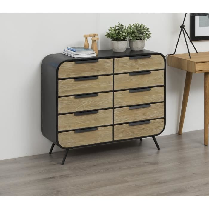 commode style industriel