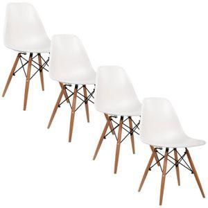 Chaises plastique r sine achat vente chaises - Chaises design blanche ...