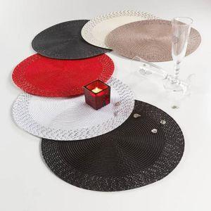 Set de table en strass achat vente set de table en for Set de table rond blanc