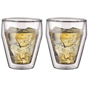 Assortiment de verres BODUM TITLIS Set 2 verres double paroi empilable 0