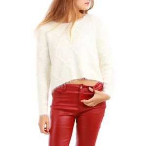 PULL La Modeuse - Pull manches longues effet mohair
