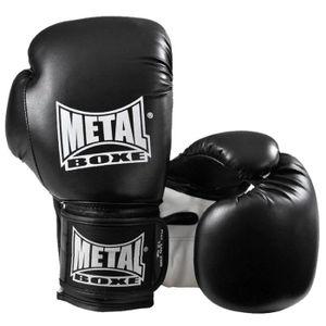 GANT DE BOXE Gants de Boxe Entrainement METAL BOXE Noir