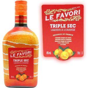 LIQUEUR Liqueur à l'orange Triple Sec Le Favori  40° 70cl