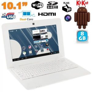 NETBOOK Mini PC Android 4.4 Netbook 10 pouces 8Go Blanc