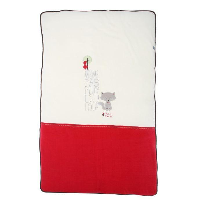 sucre d 39 orge couvre lit histoires de rouges blanc et rouge achat vente couverture plaid. Black Bedroom Furniture Sets. Home Design Ideas
