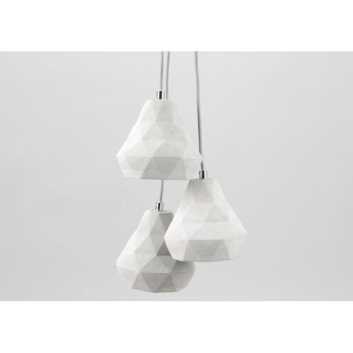 Lampe suspension origamia x3 amadeus achat vente lampe - Lustre amadeus ...