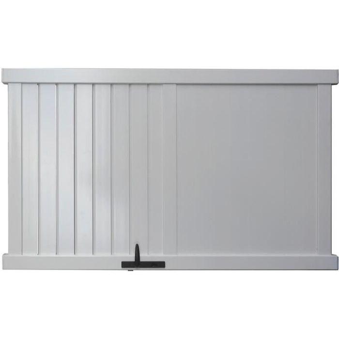 portillon alu manchester blanc 1m achat vente portail portillon cdiscount. Black Bedroom Furniture Sets. Home Design Ideas