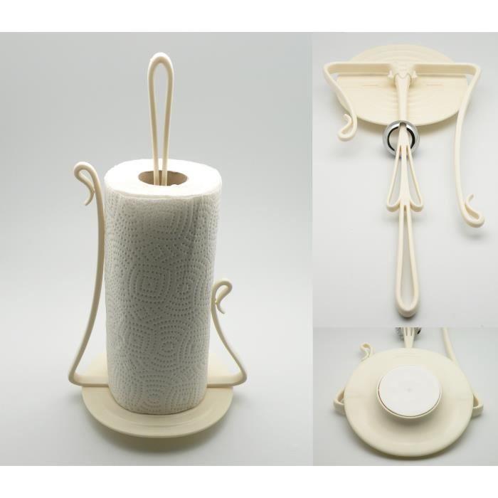 D rouleur de papier support essuie tout ventouse achat - Support papier toilette ventouse ...