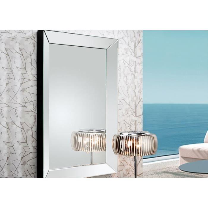miroir moderne marie louise 90x60 cm achat vente miroir panneaux de particules cdiscount. Black Bedroom Furniture Sets. Home Design Ideas