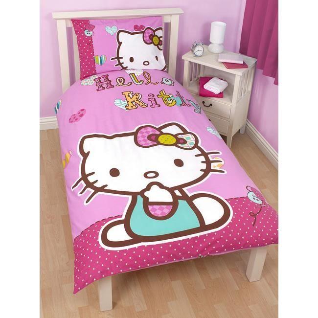 Hello kitty parure de lit 1 personne achat vente housse de couette so - Housse de couette hello kitty 1 personne ...