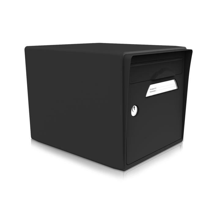 boite aux lettres 1 porte noire achat vente boite aux lettres cdiscount. Black Bedroom Furniture Sets. Home Design Ideas