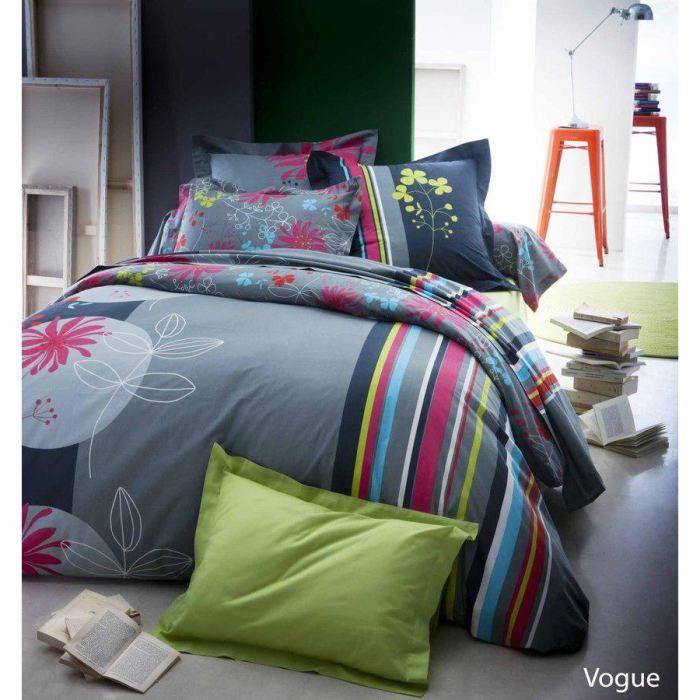 parure de lit vogue 240x220 achat vente parure de drap cdiscount. Black Bedroom Furniture Sets. Home Design Ideas