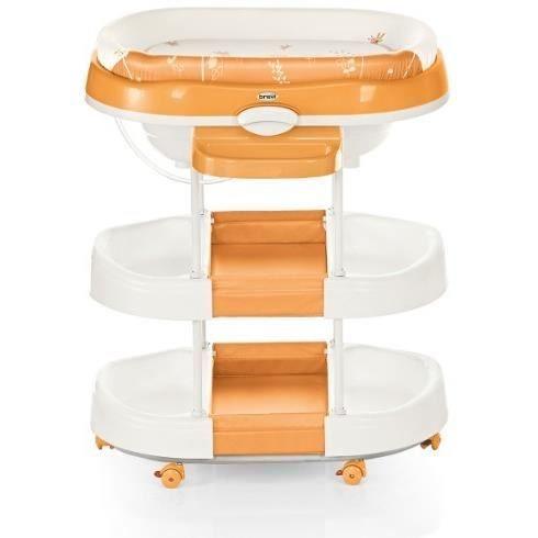 brevi table langer avec baignoire acqua orange orange. Black Bedroom Furniture Sets. Home Design Ideas
