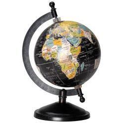 globe terrestre noir petit mod le achat vente statue statuette cdiscount. Black Bedroom Furniture Sets. Home Design Ideas
