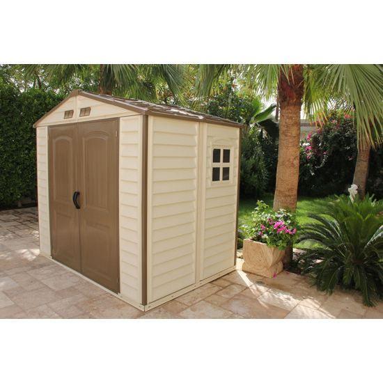 Abri de jardin pvc woodstyle premium m 8x achat vente abri jardin chalet abri de - Abri de jardin yardmaster m angers ...