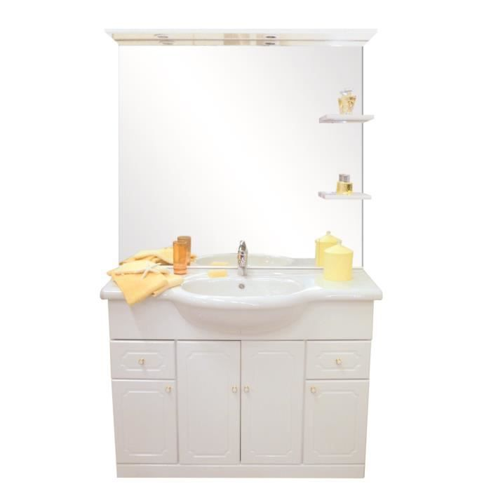 Meuble salle de bain majorca 110 complet achat vente for Meuble vasque 110