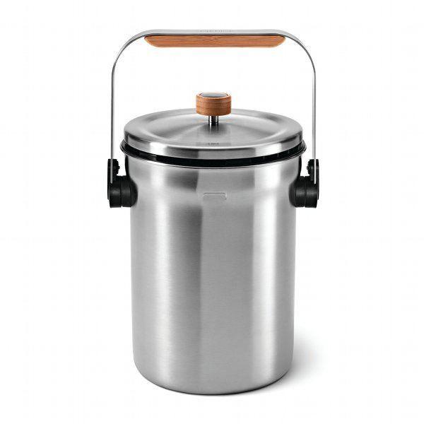 Seau compost gris achat vente poubelle corbeille for Poubelle compost pour cuisine