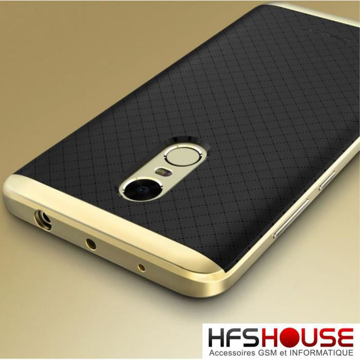 Xiaomi redmi note 4 ipaky or dor gold noir coque housse for Housse xiaomi redmi note 4