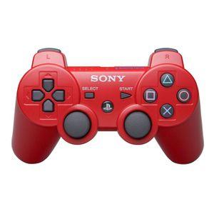 MANETTE CONSOLE Manette de Jeu Dualshock 3 Rouge PS3